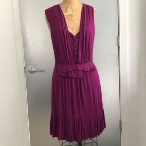 Purple knit tie back dress